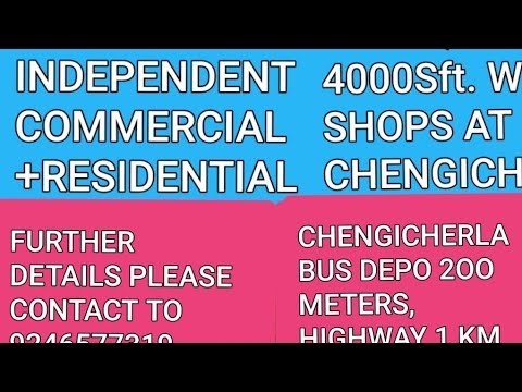 G+1 COMMERCIAL/RESIDENTIAL INDEPENDENT BUILDING SALE AT HYDERABAD/4000Sft/2 Shops/3 2bhk PORTIONS