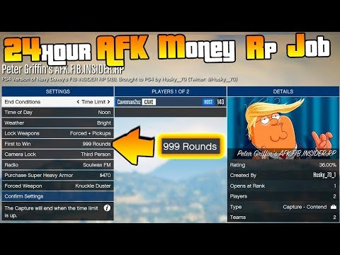 NEW! 💸 AFK Money & RP Method 💸 24 Hour Job, 100% AFK with 999 Rounds | A lot RP & Money | PS4