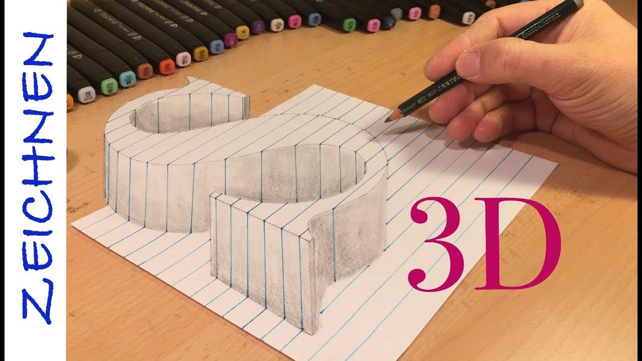 3d zeichnen lernen für anfänger buchstaben s in leicht