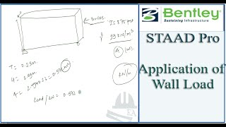 STAAD Pro Tutorial For Beginners [Episode 18]: Application Of Wall Load