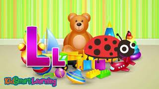 A to Z alphabet and phonic song for kid 8 New version with KidSmart Learning