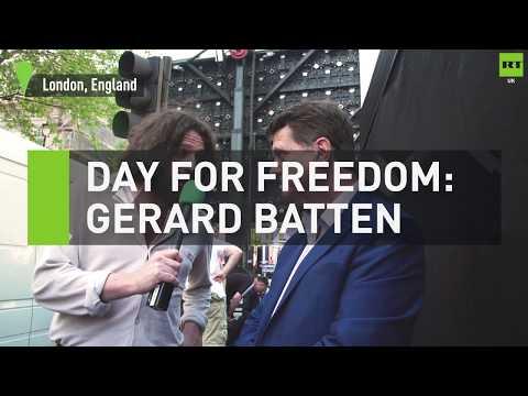 UKIP leader Gerard Batten speaks on freedom of speech