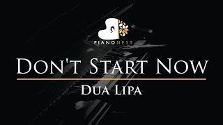 Dua Lipa - Don't Start Now - Piano Karaoke Instrumental Cover with Lyrics