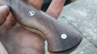 KNIFEMAKING | How to finish knife handle scales