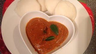 Tomato Chutney Recipe Or Thakkali Chutney Recipe With English Subtitle