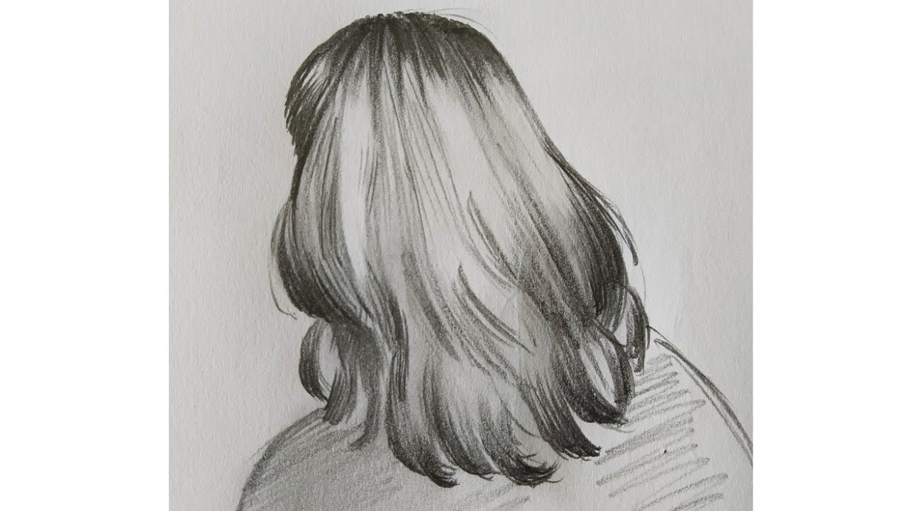 How to Draw Hair #3 | Hair Drawing | Pencil drawing | simple drawing | shading Techniques - YouTube