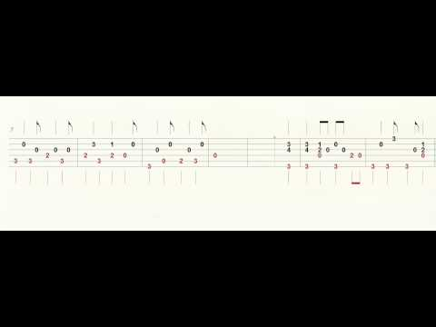 Guitar Tab - Chicken Fried Intro - Slow - Fast - Play Along