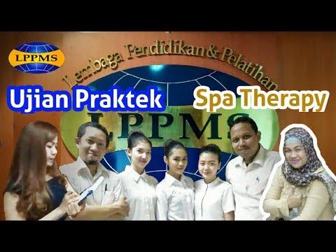 Suasana Ujian Praktek Spa Therapy di LPPMS Mustika Ratu 2017