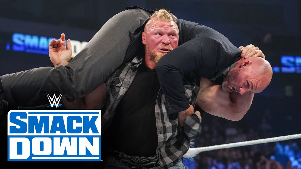 Download Adam Pearce suffers an F5 after indefinitely suspending Brock Lesnar: SmackDown, Oct. 22, 2021