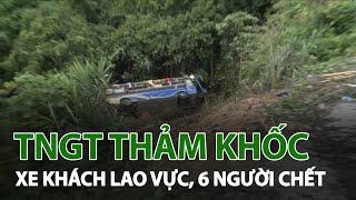 Hiện trường vụ tai nạn giao thông thảm khốc làm 6 người chết tại Kon Tum | VTC14
