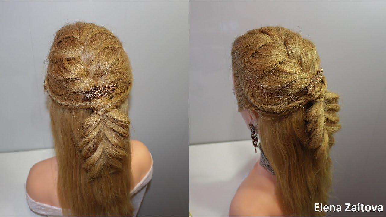 Вечерние прически с резинками для волос