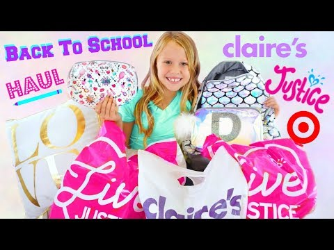 Daya Daily Back to School Haul! Clothes and Makeup! Justice, Claires, Target