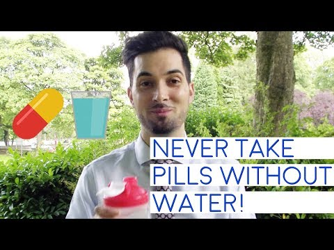 Why It's Dangerous To Take Tablets Without Water | Can You Take Swallow Capsules Pills Without Water