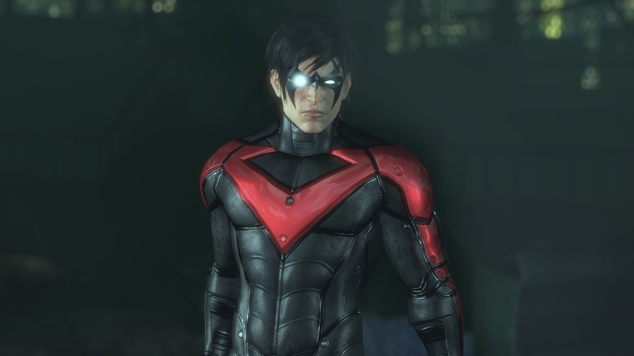 SKIN; Batman; Arkham City; New 52 Nightwing - YouTube