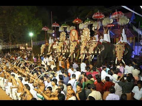 1434th Chathakudam Thiruvathira Purappadu 2016 -Panchari Melam Part 2