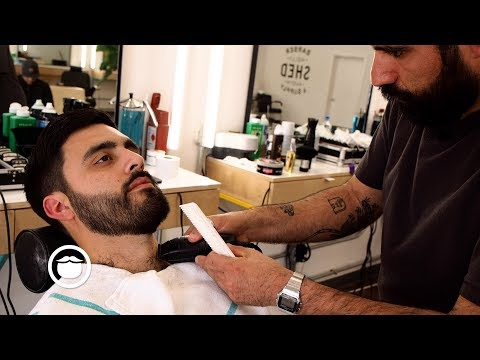 American Barber Shows How a Haircut and Beard Trim are Done | SHED Barber & Supply
