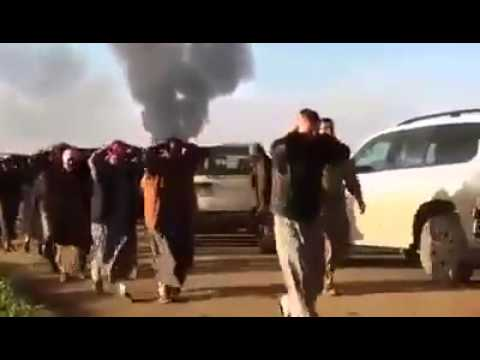 Peshmerga got many ISIS Islamic state prisoners in Kirkuk North Iraq