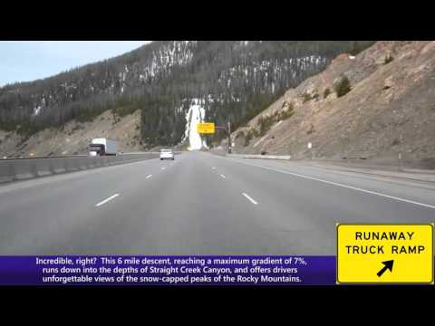 Westbound Interstate 70 In Colorado, The Eisenhower Tunnel & Straight Creek Canyon