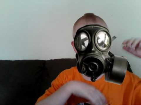 funny gas mask man youtube
