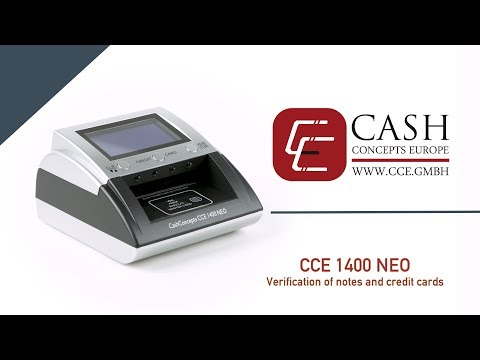 CashConcepts CCE 1400 NEO Verification of noges and credit cards
