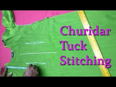 Churidar tucks (darts) stitching for beginners DIY tutorial malayalam. kurti tuck thumbnail