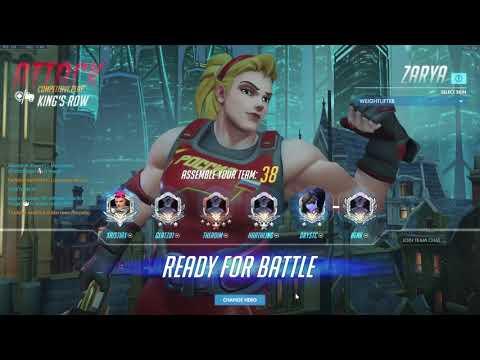Overwatch Grandmaster - Golden Weapon Weightlifter Zarya Gameplay   Gold DMG