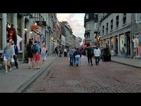 Montreal Old City First Person Walking