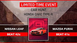 Asphalt 9 [Touchdrive] | Car Hunt HONDA CIVIC | Beat 41s with MAZDA FURAI and 42s with NISSAN LEAF
