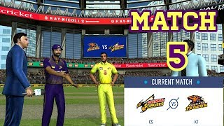 #5 KKR vs CSK - Kolkata vs Chennai Our team Rcpl / IPL 2019 -2020 Real Cricket 19 Tournament