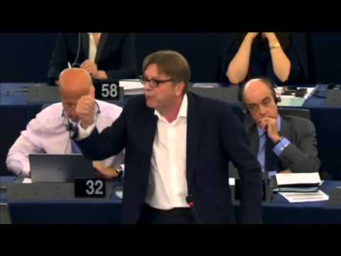 Guy Verhofstadt plenary speech on Greece with Alexis Tsipras 8-7-2015