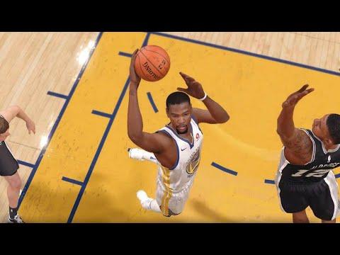 NBA LIVE 18 - San Antonio Spurs vs Golden State Warriors - 1st Half - PS4 PRO 1080p - HD