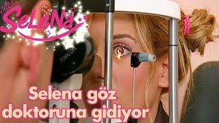Selena göz doktoruna gidiyor!