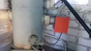 Пеллетная горелка RCE в парогенераторе РИ5 (Армейский).