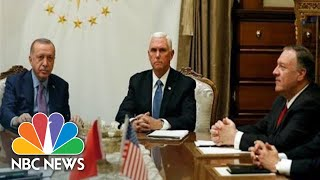 Watch live: Pence, Pompeo provide update on meeting with Turkish president