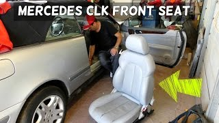 MERCEDES CLK W208 FRONT BUMPER COVER REMOVAL REPLACEMENT