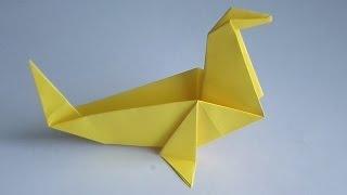 как сделать тюленя из бумаги - Оригами из бумаги