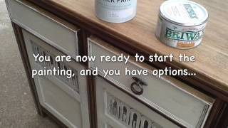 How To Restore Refurbish Oak Wood Sideboard By Whatacombination