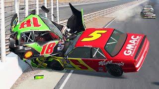 NASCAR Racing Crashes #45   BeamNG Drive