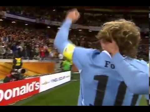 Gol de Diego Forlan Uruguay vs Holanda mundial 2010