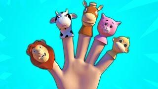 Животные пальцы семьи | 3d детские рифмы | Семейная песня | Songs For Kids | Animals Finger Family