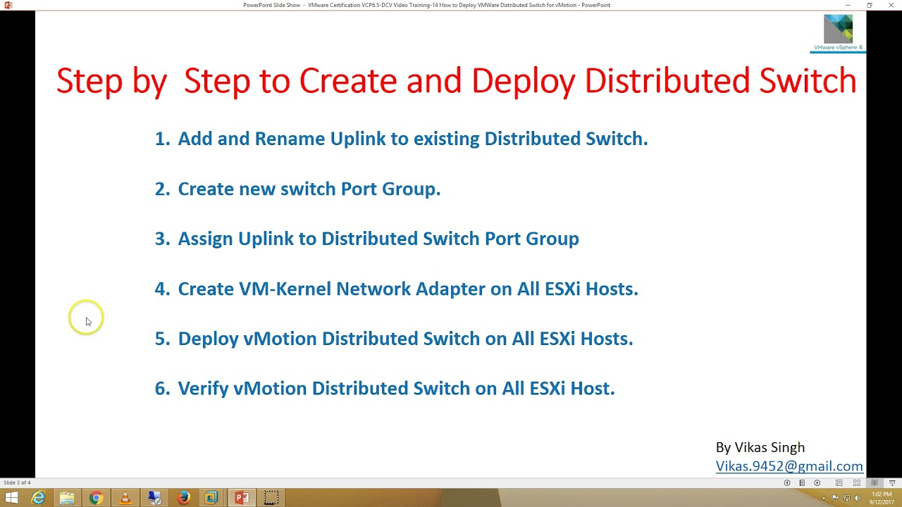 Vmware certification vcp 65 14 how to deploy vmware distributed vmware certification vcp 65 14 how to deploy vmware distributed switch for vmotion in vsphere 65 xflitez Images