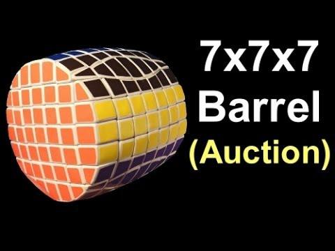 Tony Fisher's Signed 7x7x7 (true) Barrel Puzzle *past Auction*