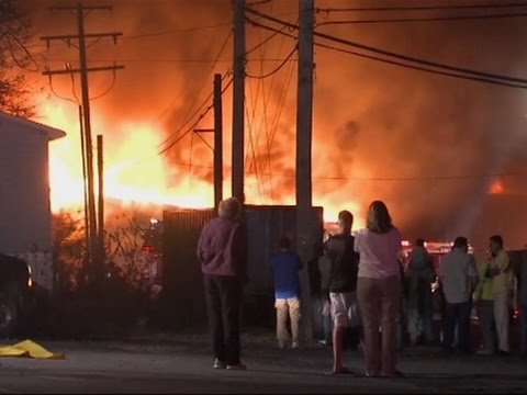 Huge Fire in Pennsylvania Manufacturing Plant