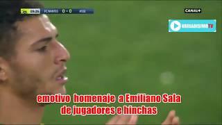 Los hinchas del Nantes le brindaron un emotivo homenaje a Emiliano Sala