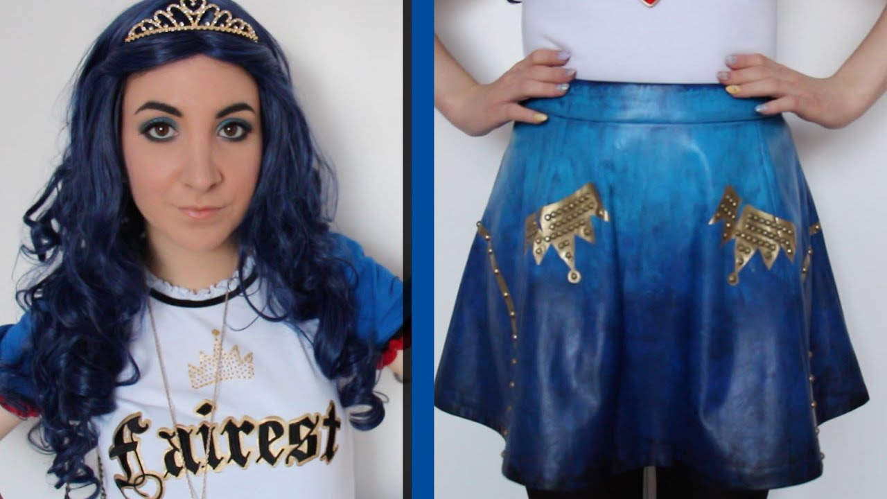 Disney S Descendants Evie Cosplay Skirt Tutorial Youtube