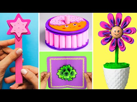 32 PAPER FUN IDEAS TO KILL BOREDOM | Great ideas to decorate your room and have fun with paper toys!