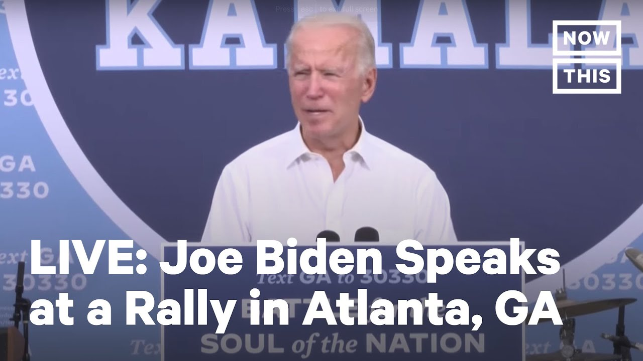 Joe Biden Speaks at a Drive-In Rally in Atlanta, GA | LIVE | NowThis
