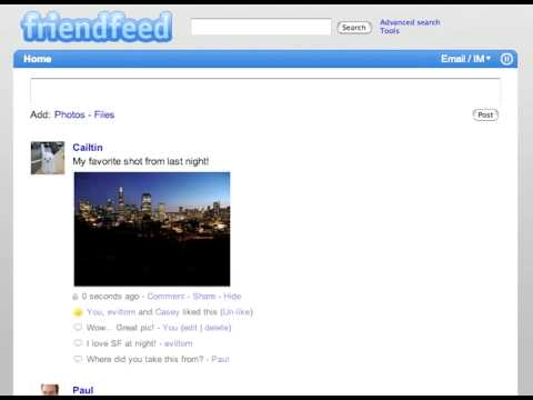 Welcome to FriendFeed