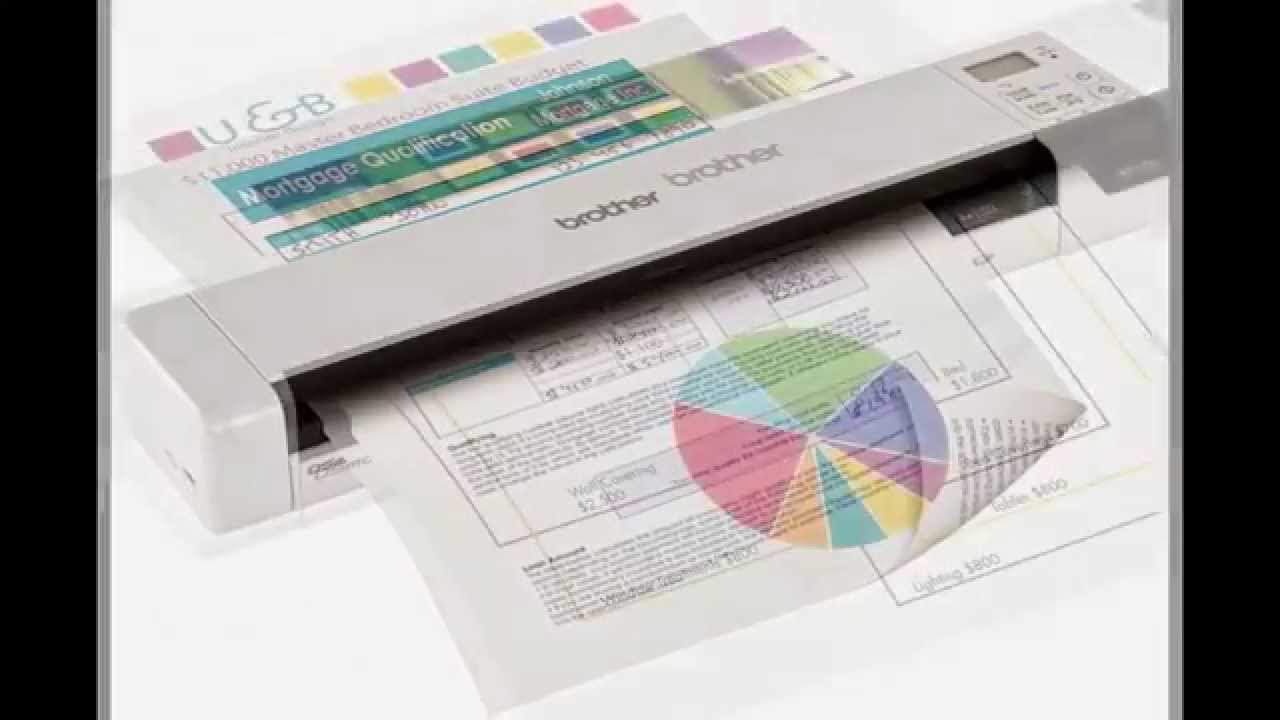 Ocr Scanner Review Brother Ds 620 Mobile Color Page Scanner Youtube