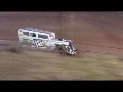 Ashlynn Newton got a long practice run late in the evening on her 3rd practice session of the rookie year on 2-15-2020 and found some more speed. - dirt track racing video image